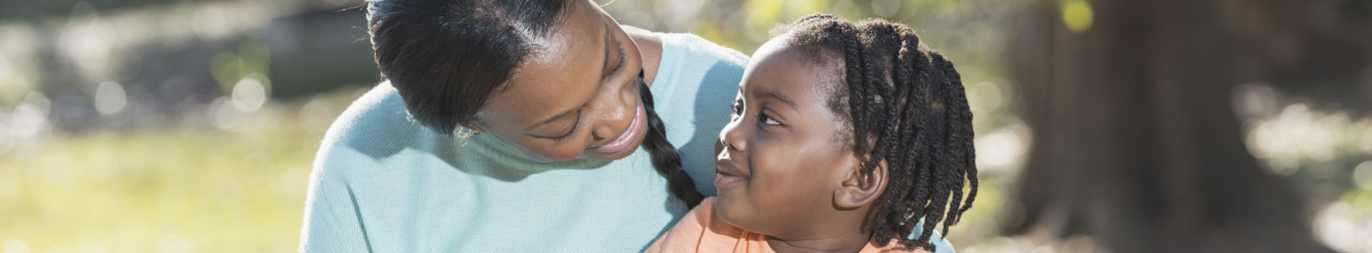 Young child asking mother question about sexual health